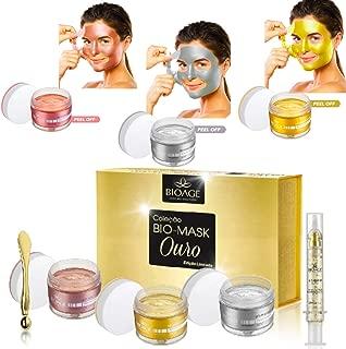 3 BIO-MASK 24K GOLD COLLECTION PEEL OFF + SERUM 24 K - KIT (3 Mask + Serum) GOLD SERUM - GOLD PEEL OFF- WHITE GOLD PEEL OFF - ROSE GOLD PEEL OFF - Collagen, Anti Aging Rejuvenating • Firming •