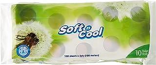 Soft n Cool Toilet tissue Rolls 100 Sheet- 10 Rolls per pack