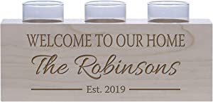 LifeSong Milestones Personalized Family Home Handcrafted Candle Holder Decor Gift - Custom Housewarming Engraved Maple Wood Keepsake Ideas for Loved One 10