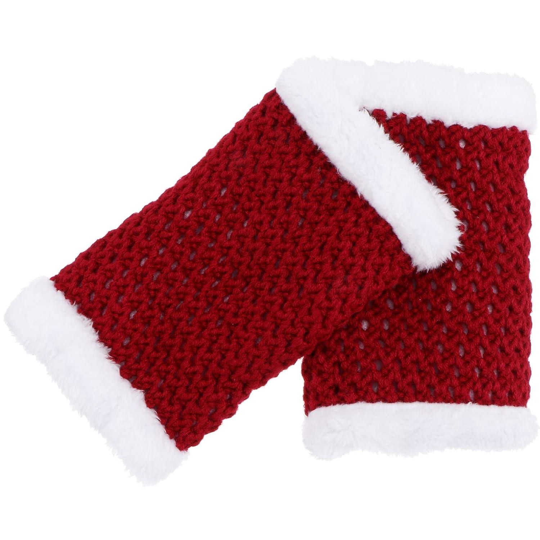 Happyyami Women Girls Leg Warmers Knitted Christmas Footless Socks Leg Support for Sports Yoga Winter Leg Protection
