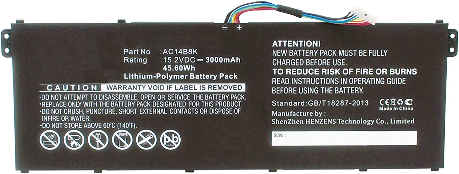 Synergy Digital Laptop Battery Compatible Acer Max 47% OFF Ranking TOP12 V3-1 Aspire with