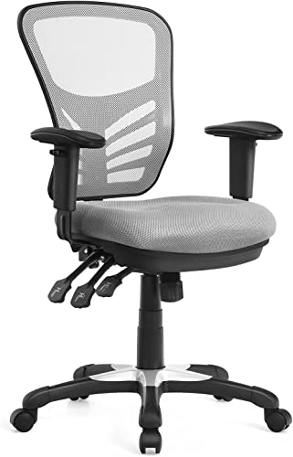discount Giantex Ergonomic Mesh Office Chair, Mid-Back Managers Chair, Reclining Desk Chair w/Height Adjustable Backrest popular & Armrest, Seat Tilt Adjustment outlet sale Office Chair for Working Studying Gaming (Gray) sale