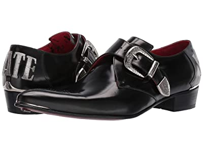 Jeffery-West Adamant Love/Hate Monk Shoe (Black/Silver) Men