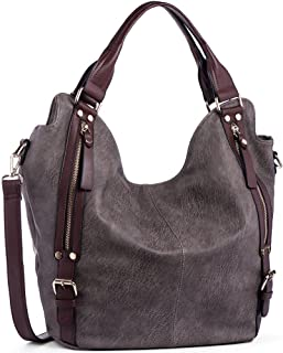 5afb9f9457 JOYSON Women Handbags Hobo Shoulder Bags Tote PU Leather Handbags Fashion  Large Capacity Bags