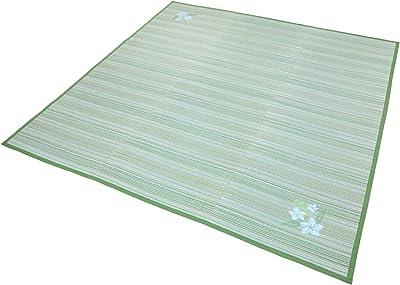 大島屋 い草 ラグ 颯 コンパクト 3枚合せ グリーン 約180×230cm