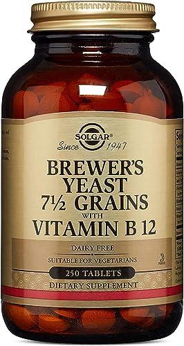 Solgar Levure de Bière avec Vitamine B12 250 Comprimés