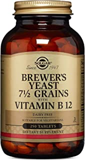 Solgar Brewer's Yeast With Vitamin B12 Tablets, 250 Count