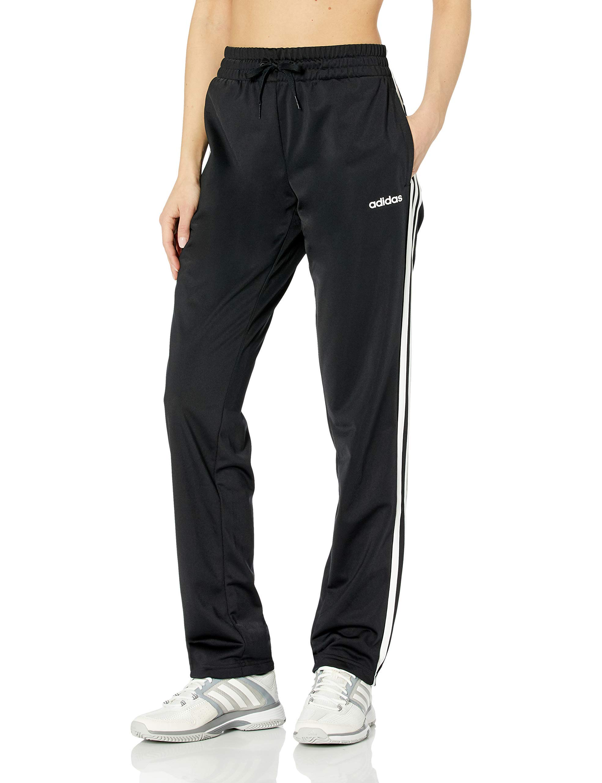 adidas 阿迪达斯必备3条纹经编裤子