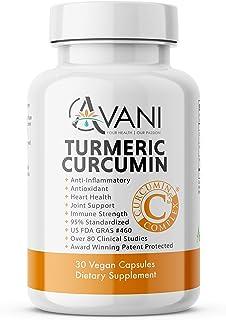 Avani Health C3 Complex® Award Winning Turmeric Curcumin Supplement, Antioxidant + Anti-Inflammatory + Immune Strength + H...