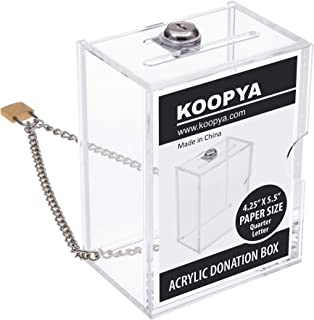 Acrylic Donation Box with Lock and Chain – Durable Quality Suggestion Box
