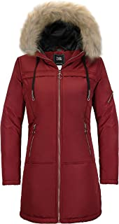 ZSHOW Women's Hip-Length Winter Coat Thick Padded Puffer Jacket with Fur Hood