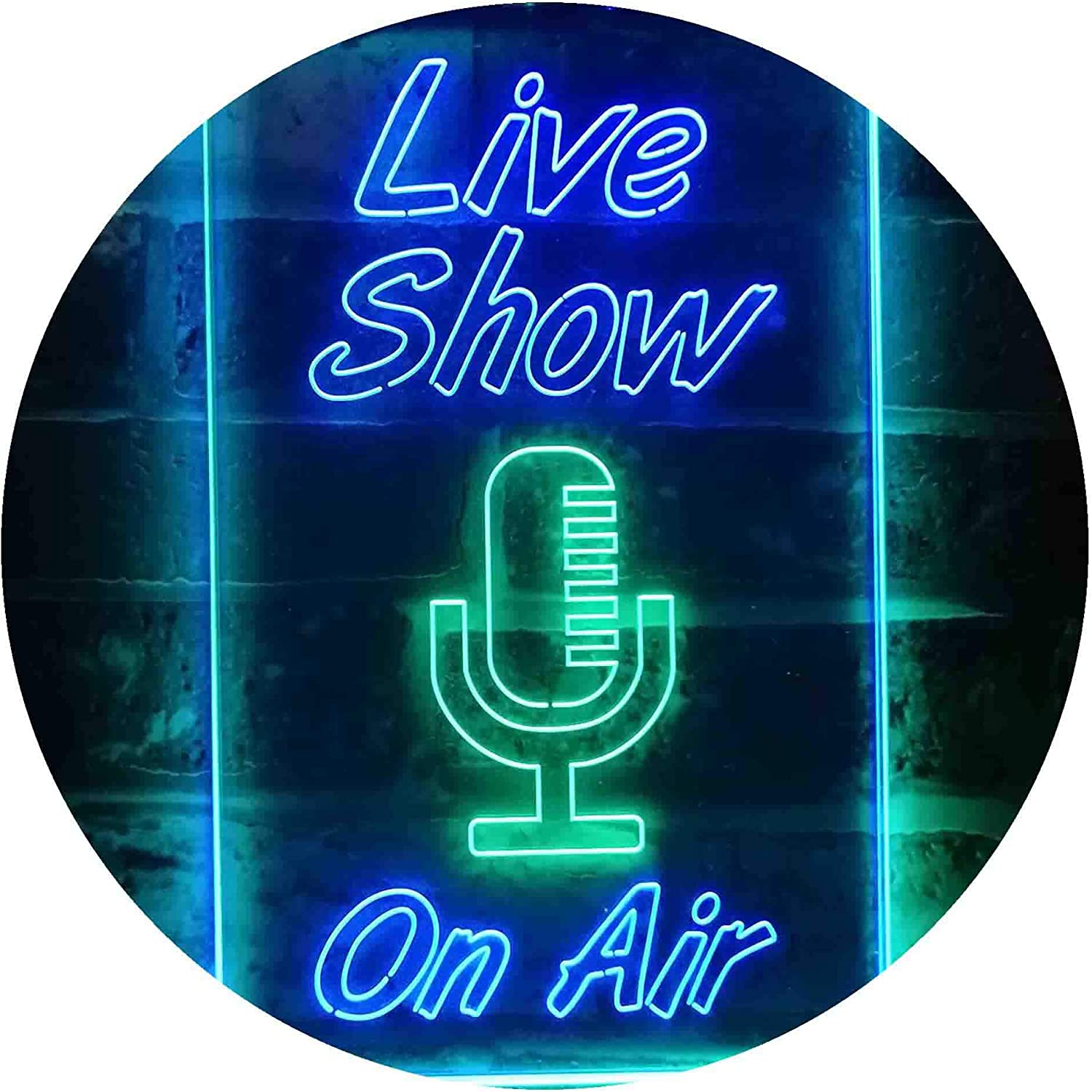 ADVPRO Live Show New Orleans Mall On Air Display LED Neon sale Dual Green Color Sign