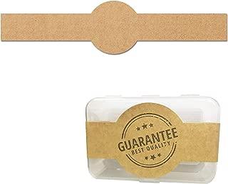 150 Pack, Brown Kraft Soap Labels Stickers, on US Letter Sheet, Laser/Inkjet Printing - 1