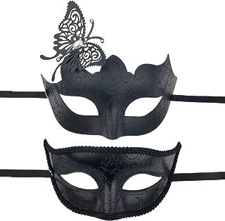 BAWASEEHI Masquerade Mask for Couples Venetian Party Eye Mask Halloween Costume Mardi Gras Cosplay