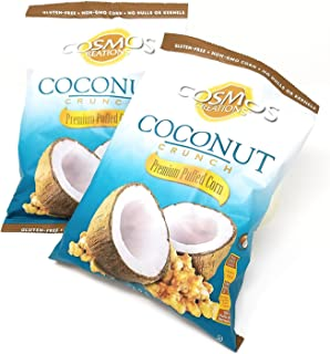 Cosmos Creations Premium Puffed Corn Coconut Crunch -- 6.5 oz - 2 pc