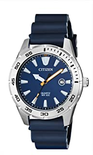 Citizen Men's Stainless Steel Japanese-Quartz Polyurethane Strap, Blue, 22 Casual Watch (Model: BI1041-22L