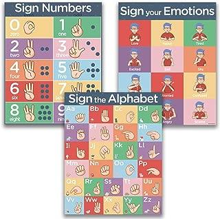 ASL Kids Sign Language Posters - 3 16x20