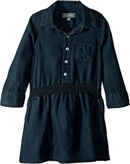 London Long Sleeve Cinched Waisted Dress (Toddler/Little Kids)