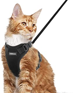 rabbitgoo Cat Harness and Leash Set for Walking, Plush Escape Proof Outdoor Vest for Cold Weather, Adjustable Easy Control...