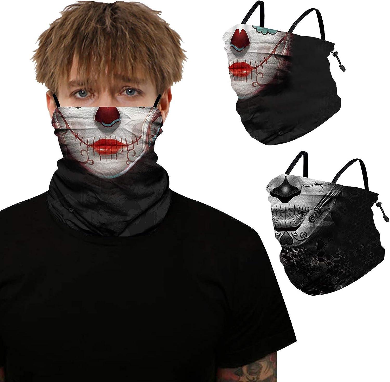 2Pcs Horror Bandana Face Scarf Japan Maker New Cover with Balaclava Gaiter Max 63% OFF Neck
