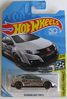 Hot Wheels 2018 Walmart Exclusive Zamac Hw Speed Graphics 2/10 - '16 Honda Civic Type R