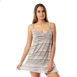 Kady Striped Spaghetti Straps Elastic Back Cotton Nightgown for WoMen