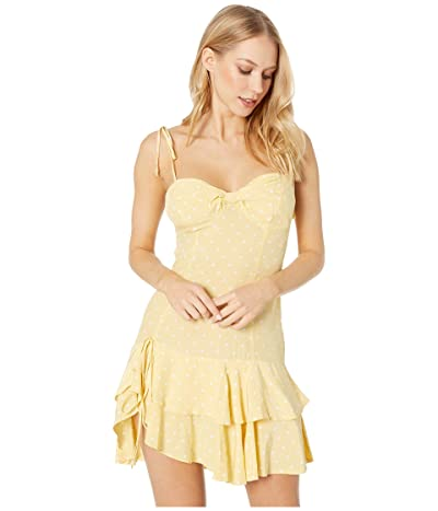 For Love and Lemons Limoncello Tiered Ruffle Dress (Yellow) Women