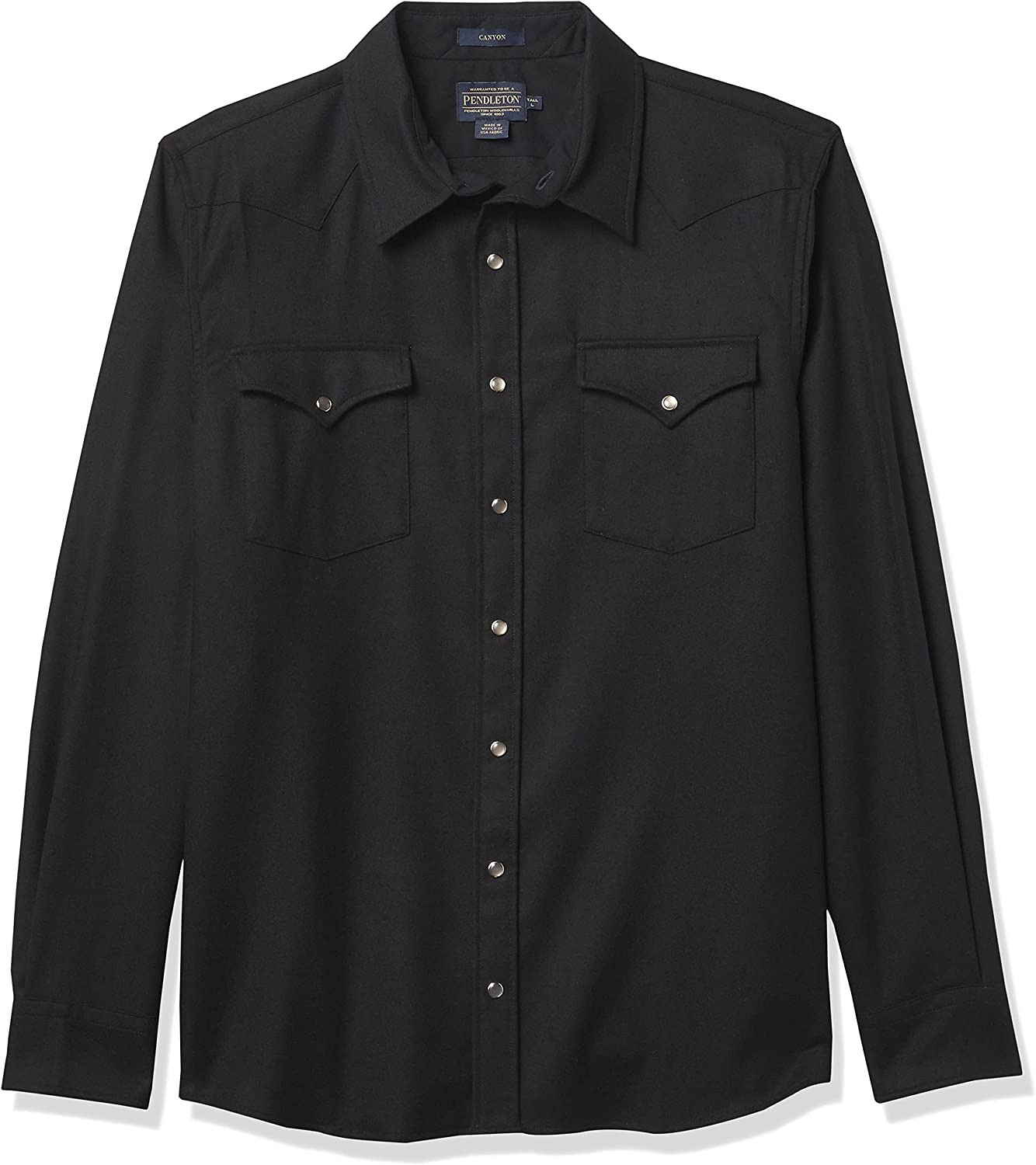 Pendleton Men's Tall Size Long Sleeve Snap Front Classic Fit Canyon Wool Shirt