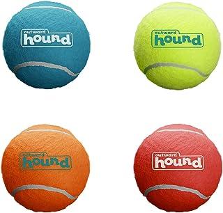 Outward Hound Squeaker Ballz Squeaky Tennis Balls Small Size 4pk