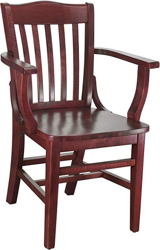 Beechwood Mountain BSD 2A M Solid Beech Wood Arm Chair In Mahogany For Kitchen Dining NA