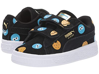 Puma Kids Sesame Street 50 Suede Badge (Toddler) (Puma Black/Bleu Azur) Kids Shoes