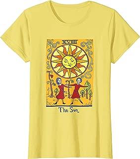 Womens Vintage Distressed Tarot Card of The Sun Magic Gift T-Shirt