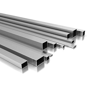 B/&T Metall Aluminium Vierkantrohr pulverbeschichtet 50 x 30 x 2 mm ANTHRAZIT RAL 7016 L/änge ca 1,9 mtr. 1900 mm +0//- 3 mm