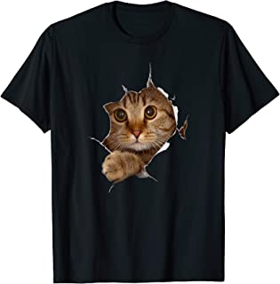 Sweet Kitten Torn Cloth - Funny Cat Lover Cat Owner Cat Lady T-Shirt