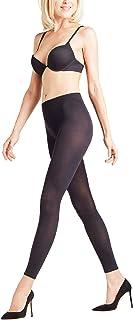 FALKE Leggings Cotton Touch Baumwolle Damen schwarz blau viele weitere Farben Damenleggings leicht blickdicht ohne Muster eng dünn und halb transparent zum Rock oder Kleid 1 Stück