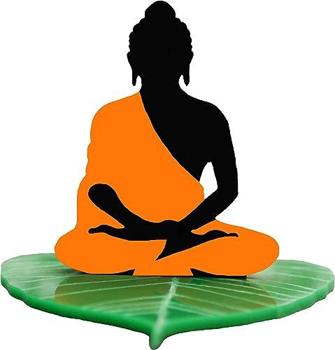 U & U Unique Utilities Buddha Car Dashboard God Idol Accessory (Orange; 3 in)