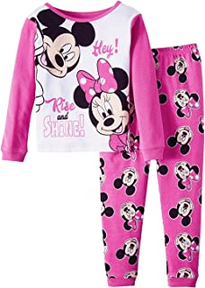 Disney Minnie Mouse Rise and Shine Little Girls Toddler Cotton Pajama Set 3f3358d83
