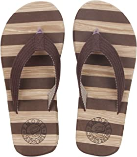 Emosis Men's Flip-Flop Slipper - Latest & Stylish Light Weight Rubber Material - for Casual Outdoor Daily Use Unisex - Multi-Color - 0276M
