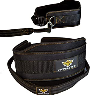 Hypeletics Weighted Dip Belt - Weight belt with chain replacement 40 inch heavy duty strap - Padded Neoprene Weighted Pull up Belt Chin ups & Squat workout - Home Gym & Weightlifting at fitness center