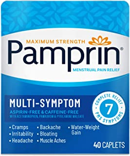 Pamprin Multi-Symptom Formula, with Acetaminophen, Menstrual Period Symptoms Relief..
