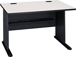 Bush Business Furniture Series A 48W Desk in Slate and White Spectrum