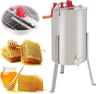 SUPER DEAL Pro 2 Frame Stainless Steel Honey Extractor Beekeeping Equipment Honeycomb Drum Bee Honey Harvest