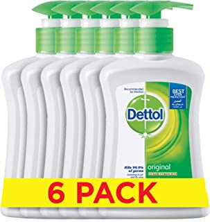 Dettol Hand Wash - Pack of 6 Pcs (6 x 200ml)