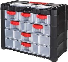 NS401 - Estantería para taller, 7 compartimentos, color rojo