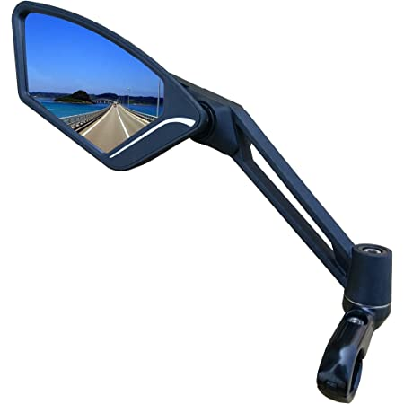 MEACHOW New Scratch Resistant Glass Lens,Handlebar Bike Mirror, Adjustable Safe Rearview Mirror, Bicycle Mirror,ME-003