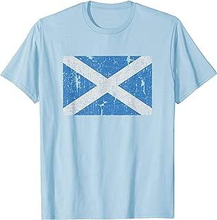 Vintage Scotland Flag Retro Scottish Men Women Souvenir Gift T-Shirt