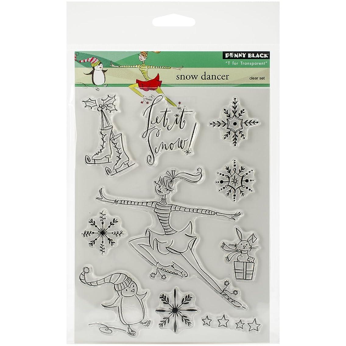Penny Black Decorative Rubber Stamps, Snow Dancer