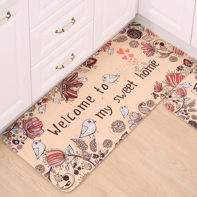 Unique cartoon entrance mat kitchen mat Carpet Doormat Door mats Household use Blanket for bedroom Kitchen Bathroom water-absorbing anti-skidding mat Toilet mat at the door-D 50x180cm(20x71inch)