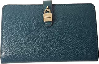 0109be0045ee Michael Kors Adele Slim Bifold Leather Wallet with Lock Detail