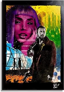 Officer K (Ryan Gosling) from Blade Runner 2049 Movie - Pop-Art Original Framed Fine Art Painting, Image on Canvas, Artwork, Movie Poster